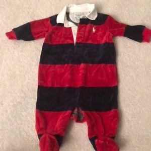 Ralph Lauren striped velour jumper 3 months